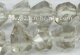 CNG1314 12*18mm – 14*28mm faceted nuggets smoky quartz beads