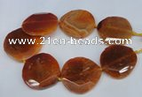 CNG1347 15.5 inches 52*55mm faceted freeform agate beads
