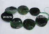 CNG1348 15.5 inches 52*55mm faceted freeform agate beads