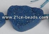 CNG1421 15.5 inches 25*35mm - 30*40mm freeform agate beads