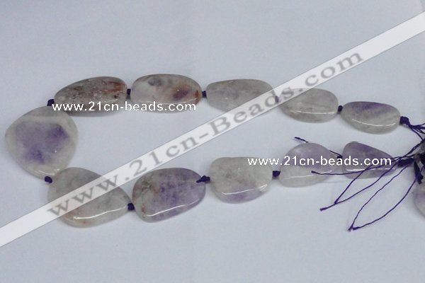 CNG1427 15.5 inches 20*30mm - 35*45mm freeform lavender amethyst beads