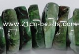 CNG1466 15.5 inches 12*35mm nuggets agate gemstone beads