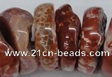 CNG1468 15.5 inches 12*35mm nuggets agate gemstone beads