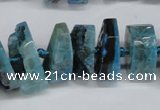 CNG1485 15.5 inches 10*15mm - 12*25mm nuggets agate gemstone beads