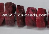CNG1487 15.5 inches 10*15mm - 12*25mm nuggets agate gemstone beads