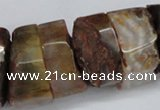 CNG1488 15.5 inches 10*30mm - 15*30mm nuggets agate gemstone beads