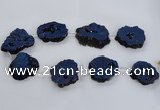 CNG1588 15.5 inches 30*35mm - 35*40mm freeform plated druzy agate beads