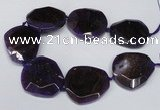 CNG1606 15.5 inches 45*50mm faceted freeform agate beads