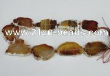 CNG1614 15.5 inches 25*35mm - 30*45mm freeform agate gemstone beads