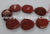 CNG1628 15.5 inches 40*45mm - 45*50mm faceted freeform agate beads
