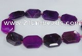 CNG1680 15.5 inches 30*40mm freeform agate gemstone beads wholesale
