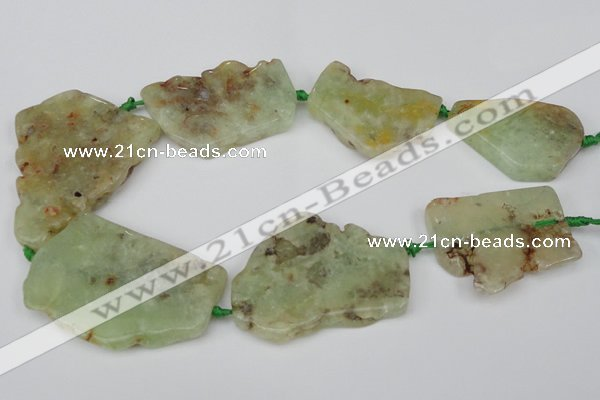 CNG1726 15.5 inches 30*40mm - 40*60mm freeform prehnite beads