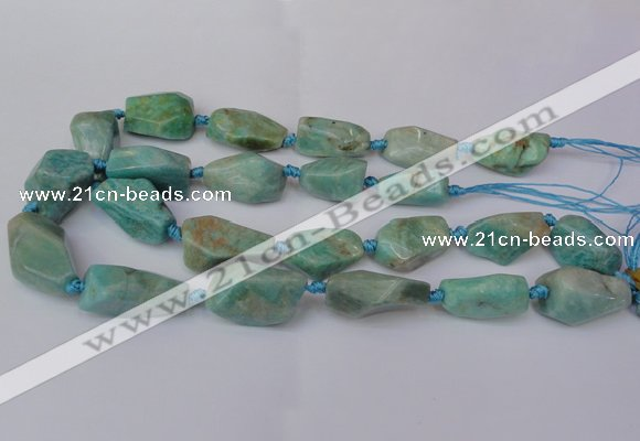 CNG1728 15.5 inches 15*20mm - 20*30mm nuggets amazonite beads