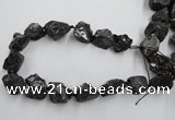 CNG1815 15.5 inches 15*20mm - 20*25mm nuggets plated rose quartz beads