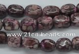 CNG203 15.5 inches 8*10mm nuggets crazy lace agate gemstone beads