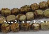 CNG208 15.5 inches 8*10mm nuggets picture jasper gemstone beads