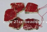 CNG2121 8 inches 30*45mm - 40*48mm freeform sea sediment jasper beads