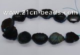 CNG2140 15.5 inches 25*35mm - 30*40mm freeform agate gemstone beads