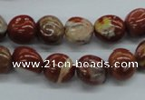 CNG217 15.5 inches 10*12mm nuggets red jasper gemstone beads