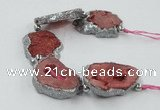 CNG2319 7.5 inches 25*35mm - 35*40mm freeform druzy agate beads