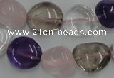 CNG235 15.5 inches 15*16mm nuggets mixed quartz beads