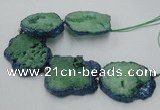 CNG2360 7.5 inches 40*50mm - 55*60mm freeform druzy agate beads