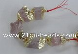 CNG2386 7.5 inches 15*25mm - 20*30mm nuggets rose quartz beads