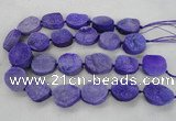 CNG2412 15.5 inches 22*28mm - 28*35mm freeform agate beads