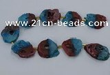 CNG2552 15.5 inches 30*40mm - 45*50mm freeform druzy agate beads