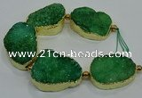 CNG2563 7.5 inches 25*35mm - 30*40mm freeform druzy agate beads