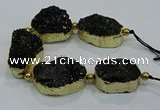 CNG2565 7.5 inches 25*35mm - 30*40mm freeform druzy agate beads