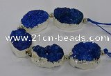 CNG2602 7.5 inches 25*35mm - 30*40mm freeform druzy agate beads