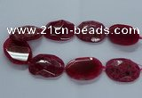 CNG2649 15.5 inches 30*38mm - 40*50mm freeform agate beads