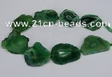 CNG2682 15.5 inches 30*40mm - 40*50mm freeform druzy agate beads