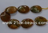 CNG2689 15.5 inches 40*50mm - 45*55mm freeform agate gemstone beads