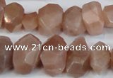 CNG2701 15.5 inches 10*14mm - 13*18mm faceted nuggets moonstone beads