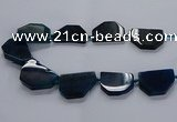 CNG2743 15.5 inches 28*40mm - 30*45mm freeform agate beads