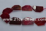 CNG2748 15.5 inches 30*45mm - 35*50mm freeform agate beads
