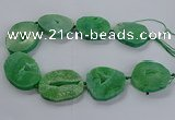 CNG2815 15.5 inches 30*45mm - 35*50mm freeform druzy agate beads