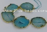 CNG2884 8 inches 40*50mm - 50*60mm freeform druzy agate beads