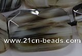 CNG2932 15.5 inches 30*40mm faceted freeform agate beads