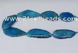 CNG2953 15.5 inches 25*35mm - 30*50mm freeform agate beads