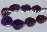 CNG2959 15.5 inches 42*45mm - 45*50mm faceted freeform agate beads