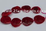 CNG2960 15.5 inches 42*45mm - 45*50mm faceted freeform agate beads