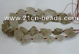 CNG3018 15.5 inches 15*20mm - 22*30mm nuggets smoky quartz beads