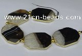 CNG3033 7.5 inches 30*40mm - 35*45mm faceted freeform druzy agate beads