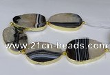 CNG3035 7.5 inches 35*45mm - 40*55mm freeform druzy agate beads