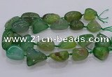 CNG3051 25*30mm - 30*40mm nuggets agate gemstone beads