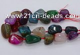 CNG3052 25*30mm - 30*40mm nuggets agate gemstone beads