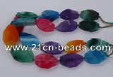 CNG3110 15.5 inches 25*40mm - 30*45mm freeform agate beads